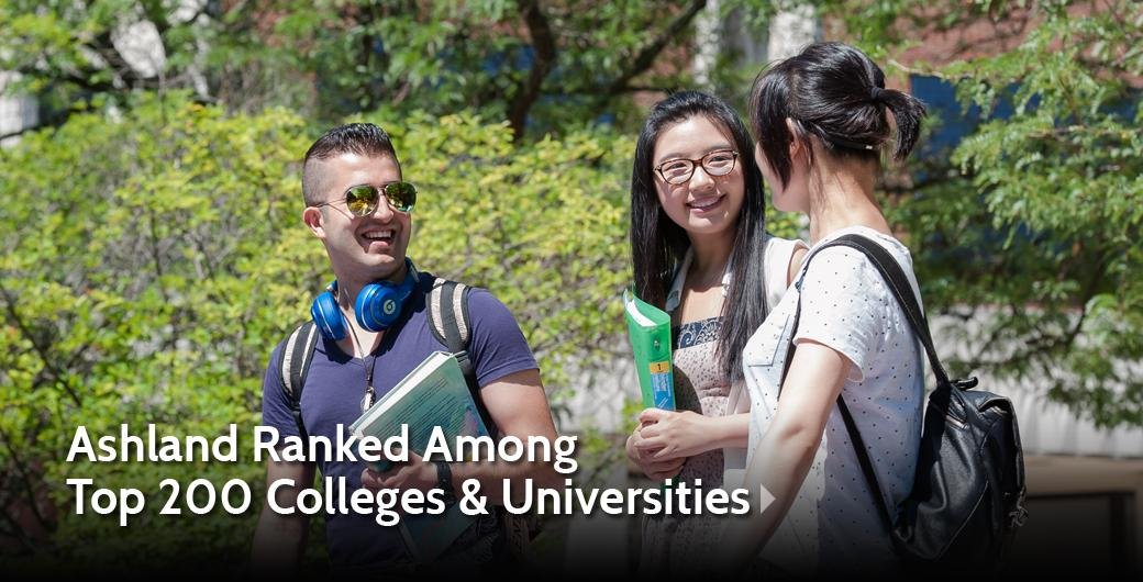 Ashland Ranked Among Top 200 Colleges & Universities