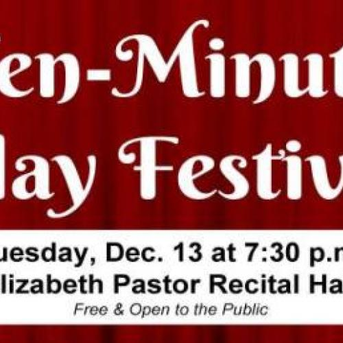 Performances of Eight 10-Minute Plays Slated for Dec. 13