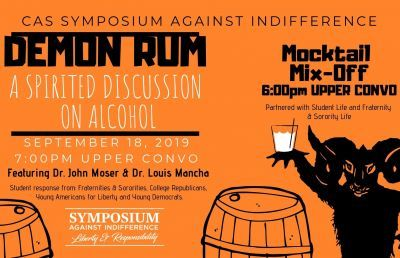 Symposium Kicks Off with 'Spirited Discussion of Alcohol'