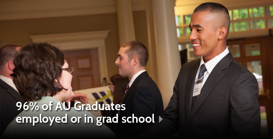 96 Percent of AU Graduates Are Employed or in Graduate School within 6 Months of Graduation