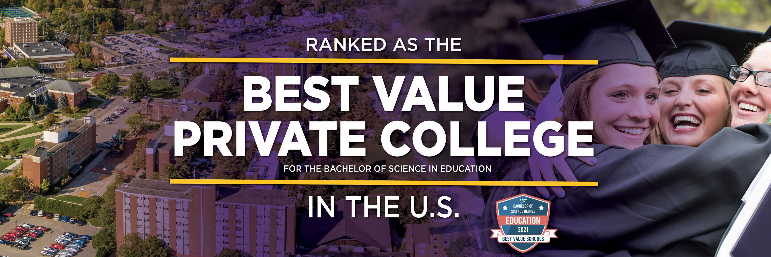Ashland University ranked as the best value private college in the U.S. for the B.S. in Education