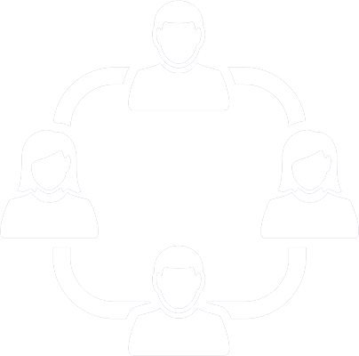 icon of four people in a circle