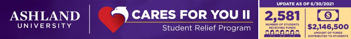 AU Cares For You II - Student Relief Program. 2,581 students received funds. $2,146,500 distributed to students.
