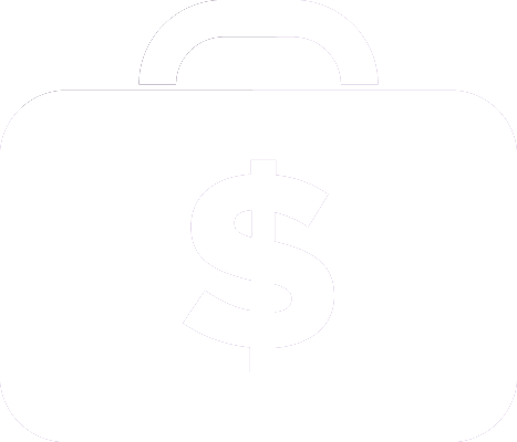 Icon of a brief case with a dollar sign on it