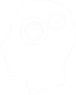 icon of a head with gears inside