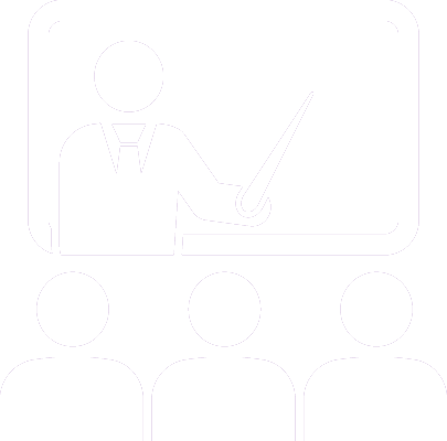 Icon of Professor Teaching a Class