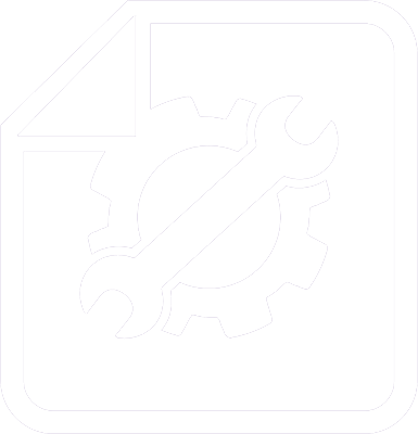 icon of a piece of paper with a gear on it