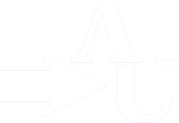 Icon of an arrow pointing at the AU Logo