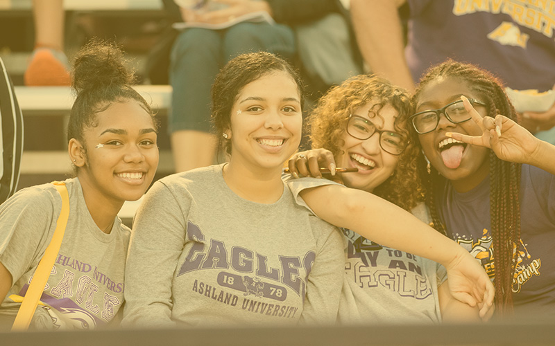 Group of Students at a Sporting Event