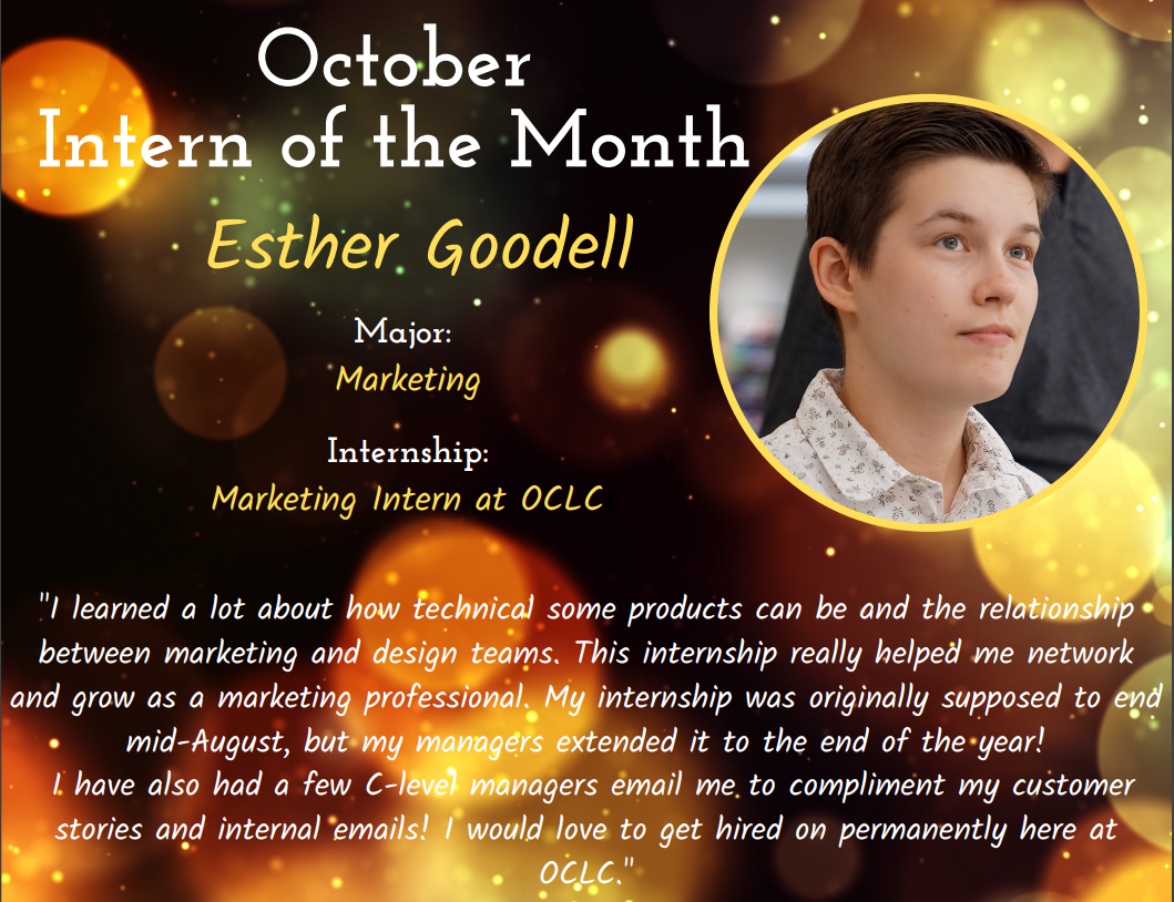 October Intern of the Month Winner