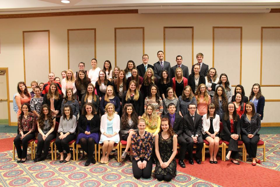 Ashland University Omicron Delta Kappa Group at 2015 Induction Ceremony