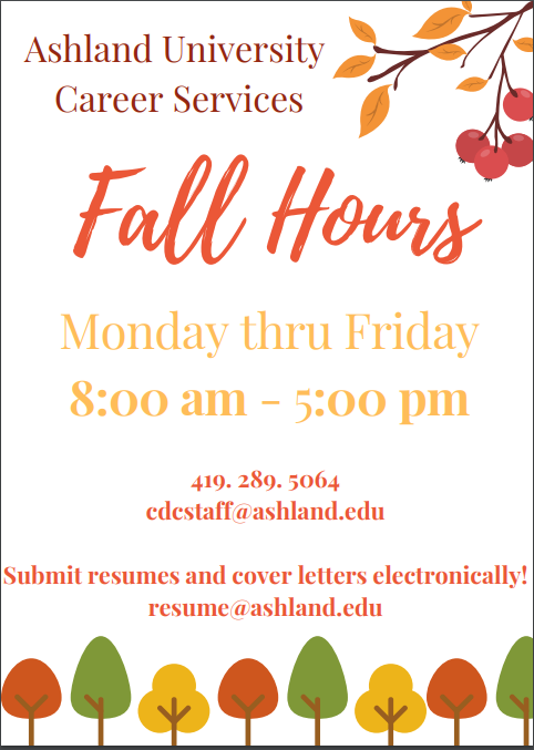 Career Services Center | Student Affairs | Ashland University