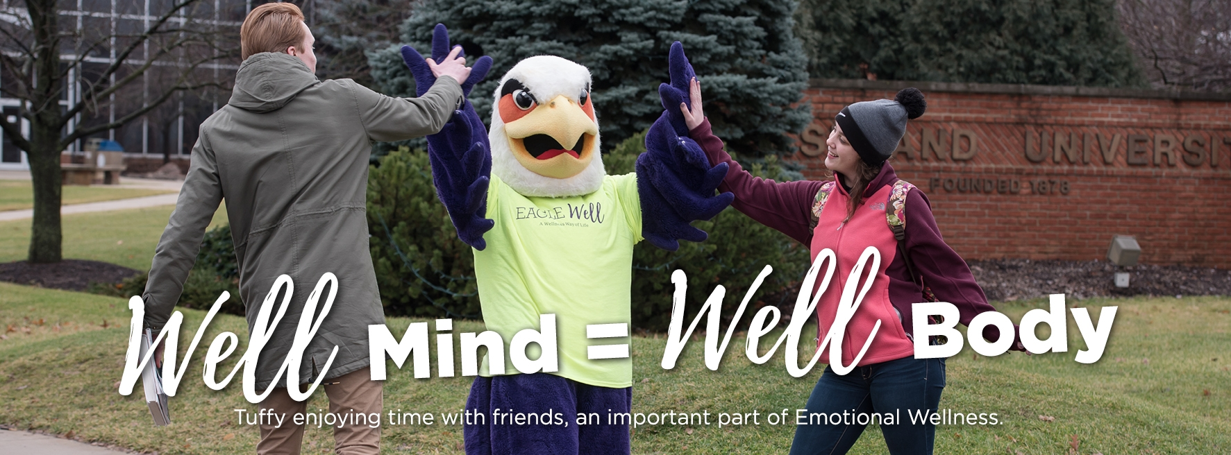 Well Mind = Well Body, Tuffy enjoying time with friends, an important part of Emotional Wellness