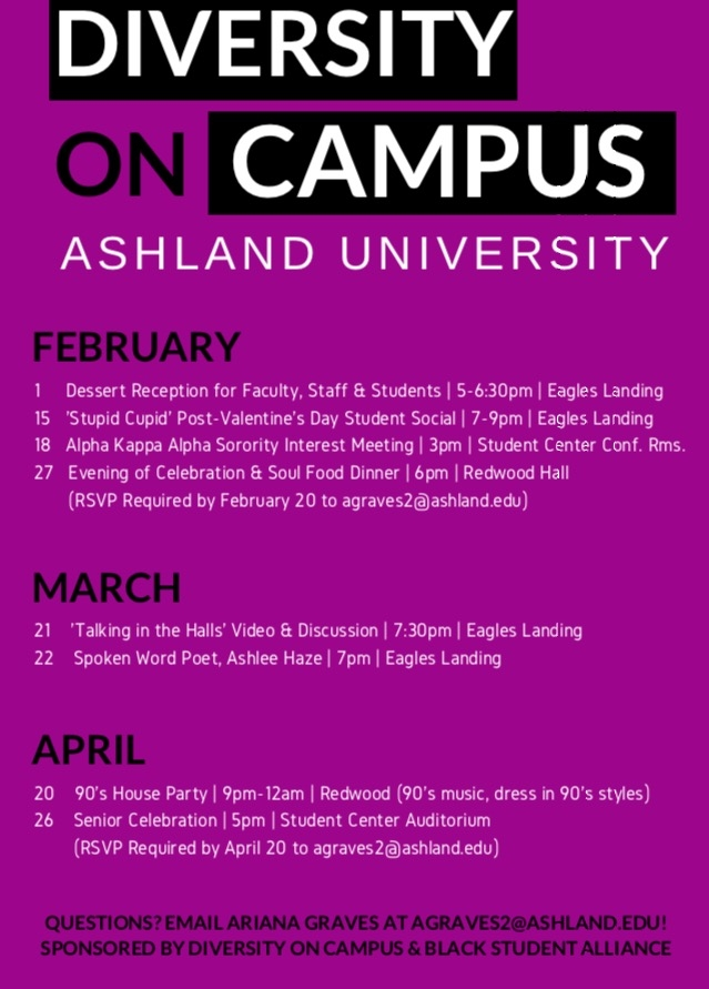 Diversity On Campus, Spring Events 2018