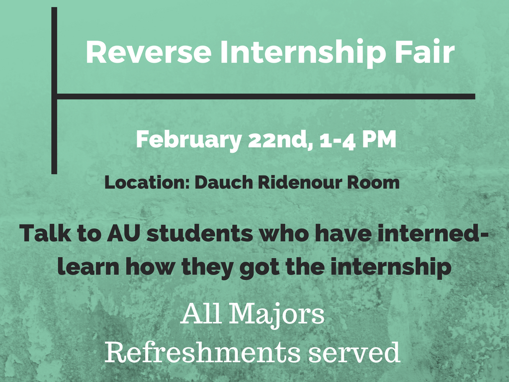 Reverse Internship Fair Promo Graphic
