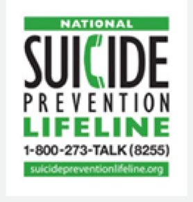National Suicide Prevention Lifeline - 1-800-273-TALK (8255)
