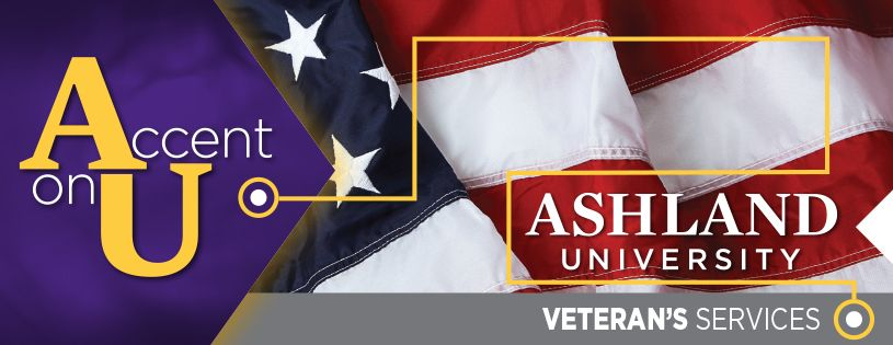 Veteran Services banner with American flag
