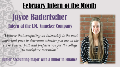 Joyce Badertscher, February 2014 Intern of the Month