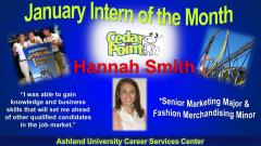 Hannah Smith, January 2014 Intern of the Month
