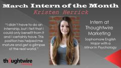 Kristen Herrick - March 2014 Intern of the Month