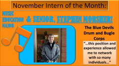 Stephen Morsher, November 2013 Intern of the Month