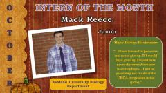 Mackenzie Reese, October 2013 Intern of the Month